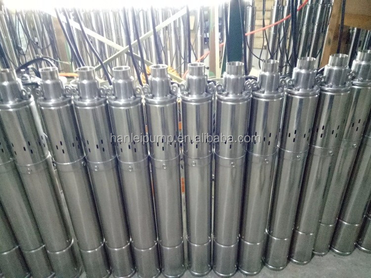 "Hot sale 4"" QGD submersible screw pump, borehole pump water pump"