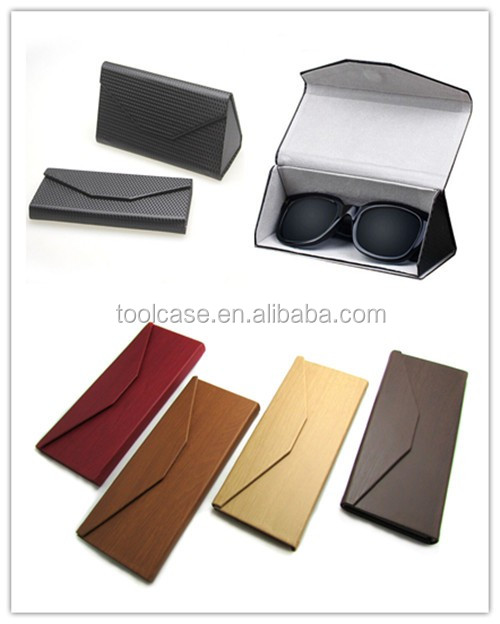 PU cloth iron hard spectacle case optical reading glasses case