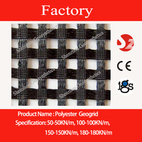 Warp knitted polyester geogrid wholesale