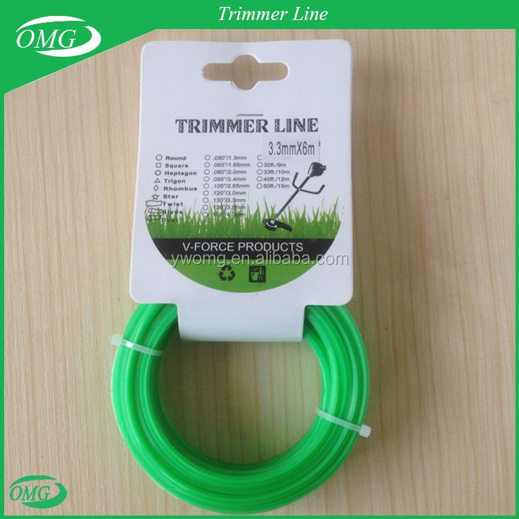 3.3mm/6M Nylon Cutting Grass Trimmer Wire for Grass Cutter