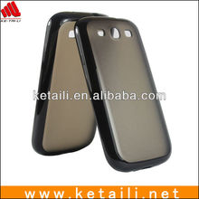TPU+PC case for galaxy s3, Hard backside, Soft edge