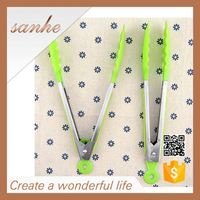 standard 9inch stainless handle silicone scissor tongs