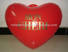 red inflatable heart shape