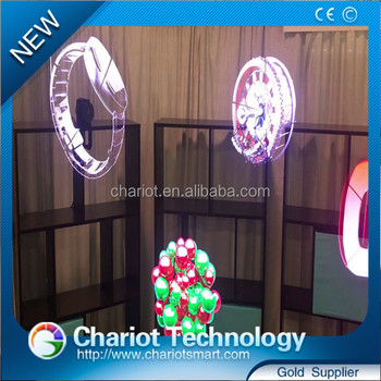 Chariot customize hologram fan for mall advertising