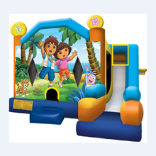 High quality inflatable bouncers with art panel for commercial rental A2165