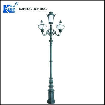 guzhen daheng cast aluminum outdoor decorative street light post