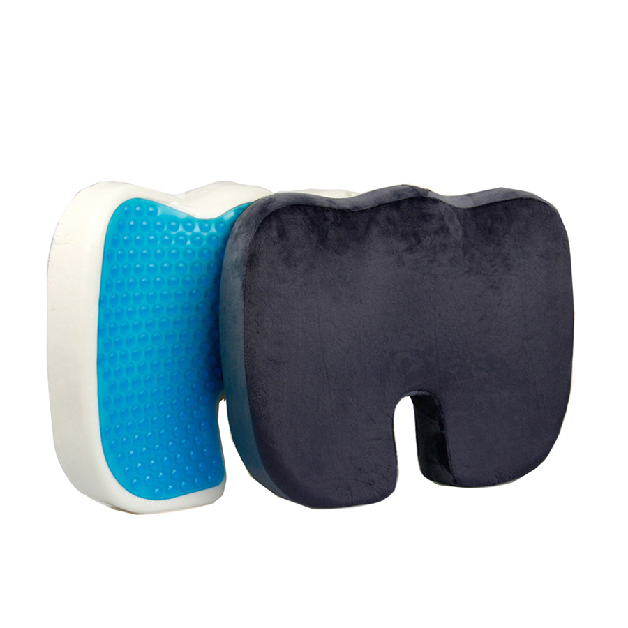 Hot Sale Coccyx Orthopedic Memory Foam Car Gel Seat Cushion