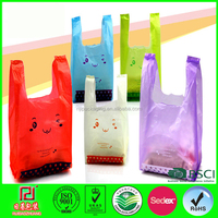 hd pink plastic bags for shopping with OEM logo
