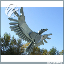 Outdoor life size metal eagle sculptures