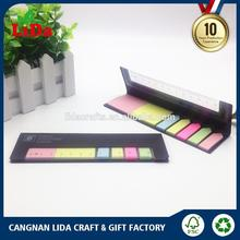 wholesale fancy design kids recycled 300gsm black kraft cover 25 sheets cute sticky notes with scale ruler