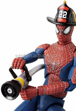 movable spiderman plastic action figures/custom game idol character plastic action figure in oem manufacturers