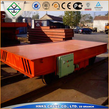 electric flat rail car 20t for transporting tank with heavy duty