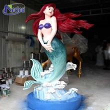 Sea world decorate life-size mermaid fiberglass sculptures NTFC-033Y