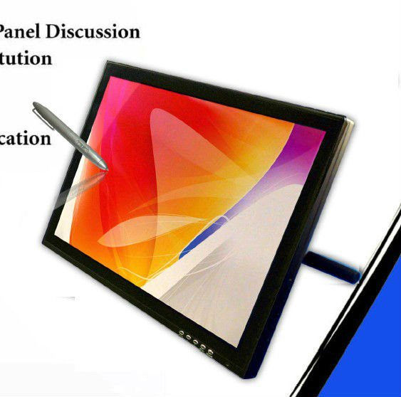 19 Inch Capacitive+Electromagnetic dual touch screen tablet monitor,interactive panel