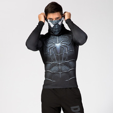 <strong>Men's</strong> High Collar Lapel Underwear Thermal 3D Super hero Printed Male Quick Dry T <strong>Shirts</strong> Wholesale Autumn Outdoor Sports Tops
