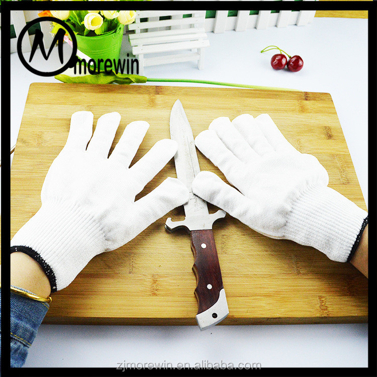 Morewin Gloves Wholesale Good Quality White Level 5 Cut Resistant Gloves