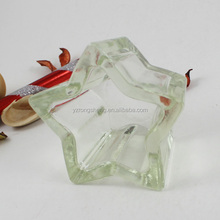lovely star shape glass tealight candle holders