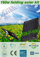 160w 18v solar panel foldable/solar kit/solar panel clamp/solar enery home system