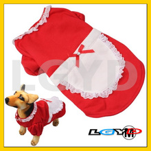 Housemaid Costume Style Dog Coat Autumn / Winter Clothes (Size: M)