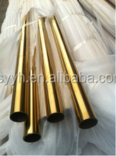 Factory direct 201 304 color coat stainless steel round/square/bizarre tube pipe
