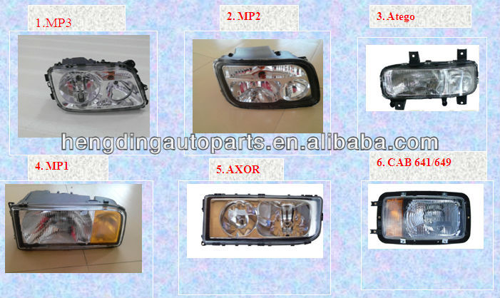 for heavy duty mercedes benz truck sapre parts truck lamp