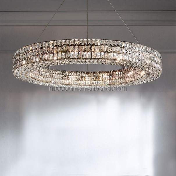 European Luxury Big Circle Cristal Egyptian Crystals Chandelier lighting for home