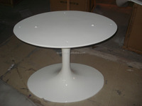 QY-122 most popular fiberglass luxury oval top tulip dining table