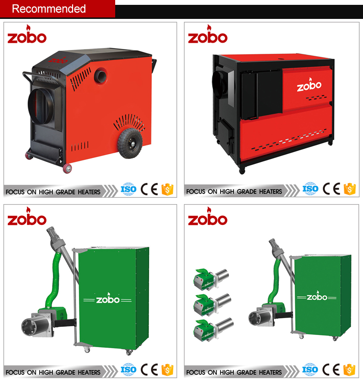 ZOBO 50KW Wood Pellet Burner For Boiler Heating With CE