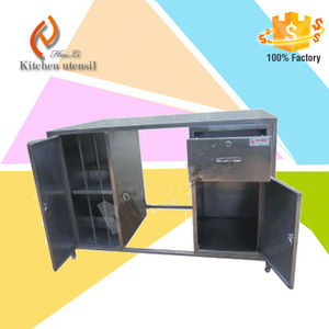 2015 hot sale free standing kitchen stainless dish storage cabinets