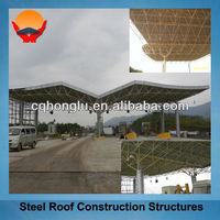 China Honglu Steel Building Material Roof Structure