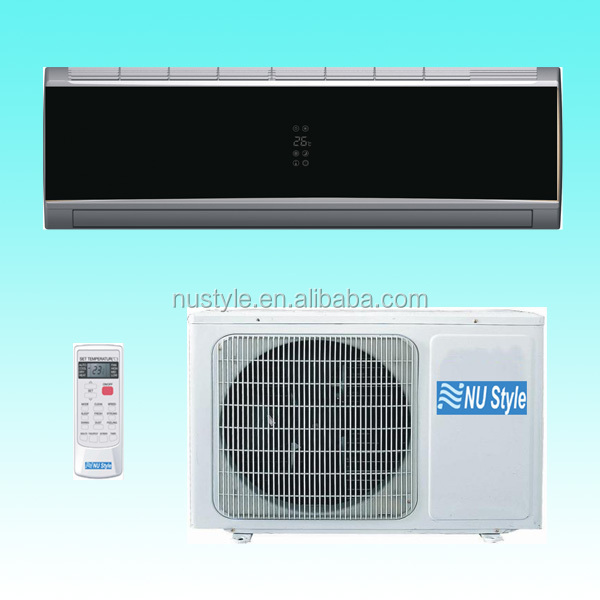 Black Mirror Finish Wall Split Air Conditioner(DC inverter/Non-inverter, R22/R410a, 50HZ/60HZ, 7000BTU to 36000BTU)