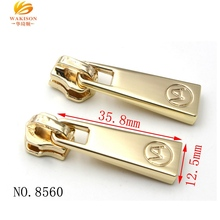 OEM factory custom brand logo nickel free ykk metal zipper slider puller