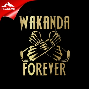 Gold Metallic Vinyl heat transfer Wakanda Forever Iron On Designs for Black Panther