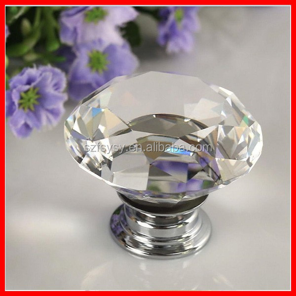 Factory Wholesale Cheapest Price Crystal Furniture Handles Cabinet Handle