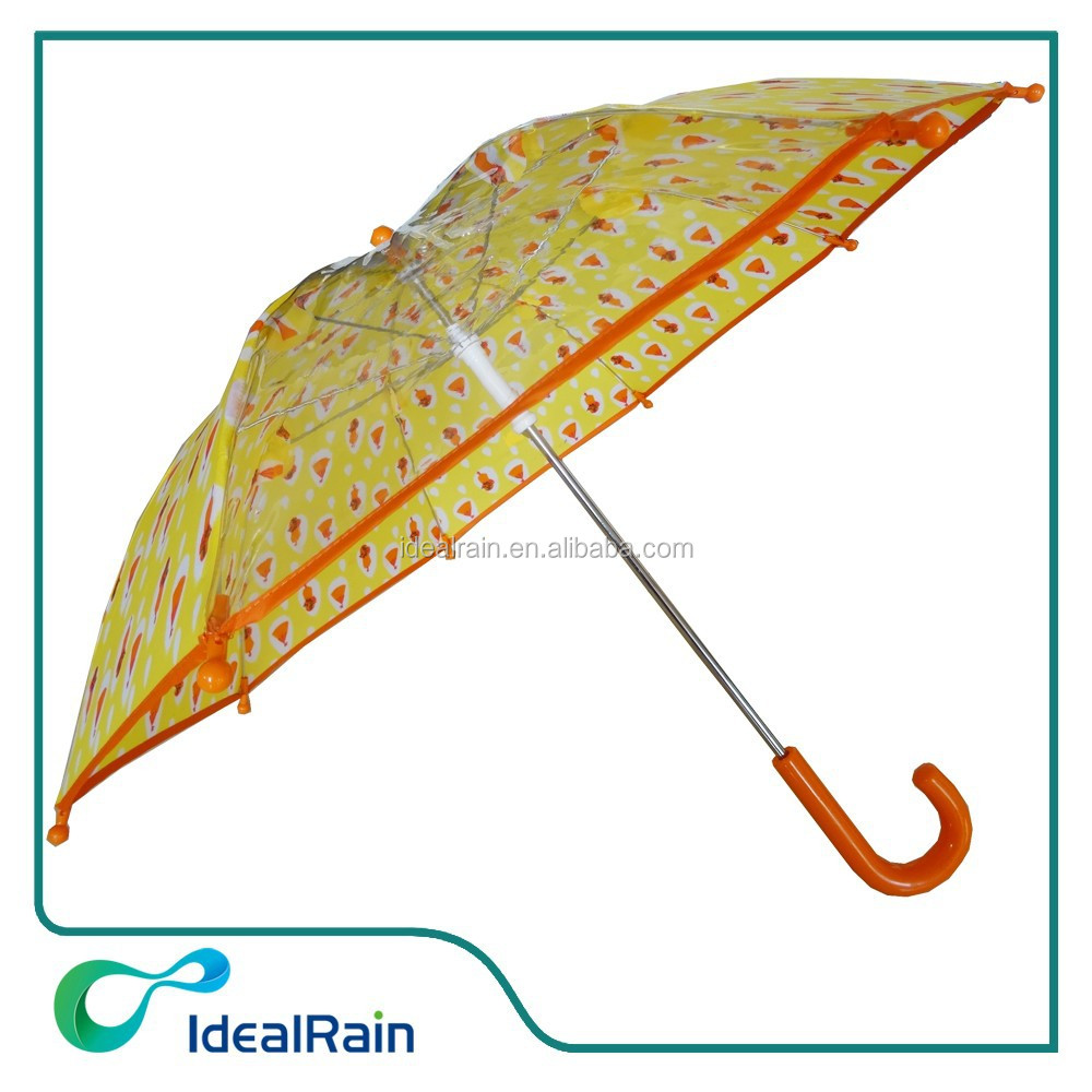 Transparency PVC kids umbrella 35cm