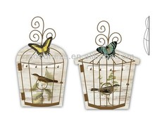 2014 NEW DESIGN Decorative Wood/Metal Birdcage with Hooks