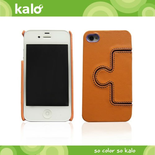 mobile phone leather puzzle case for iPhone 4S design