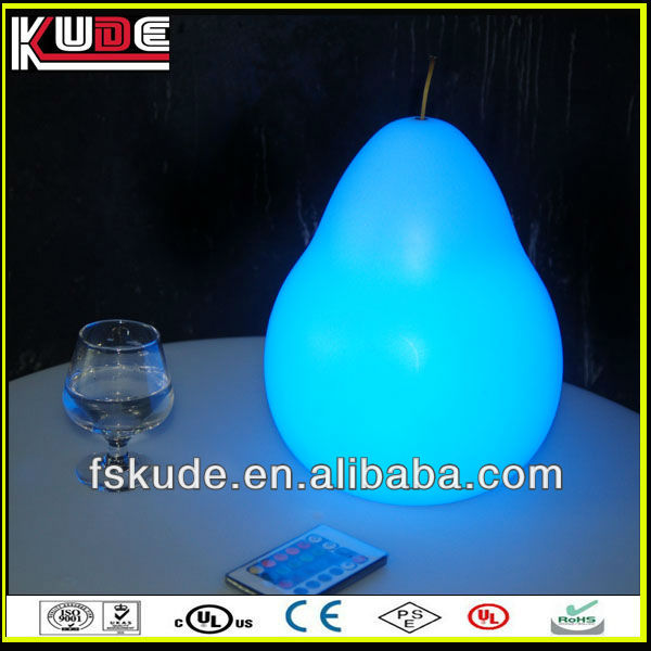 rechargeable led table lamps/led pear shaped lamp