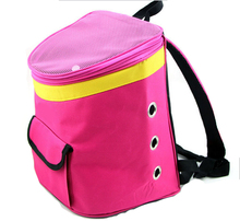 portable pink 600D polyester cat rabbit dog carrier backpack