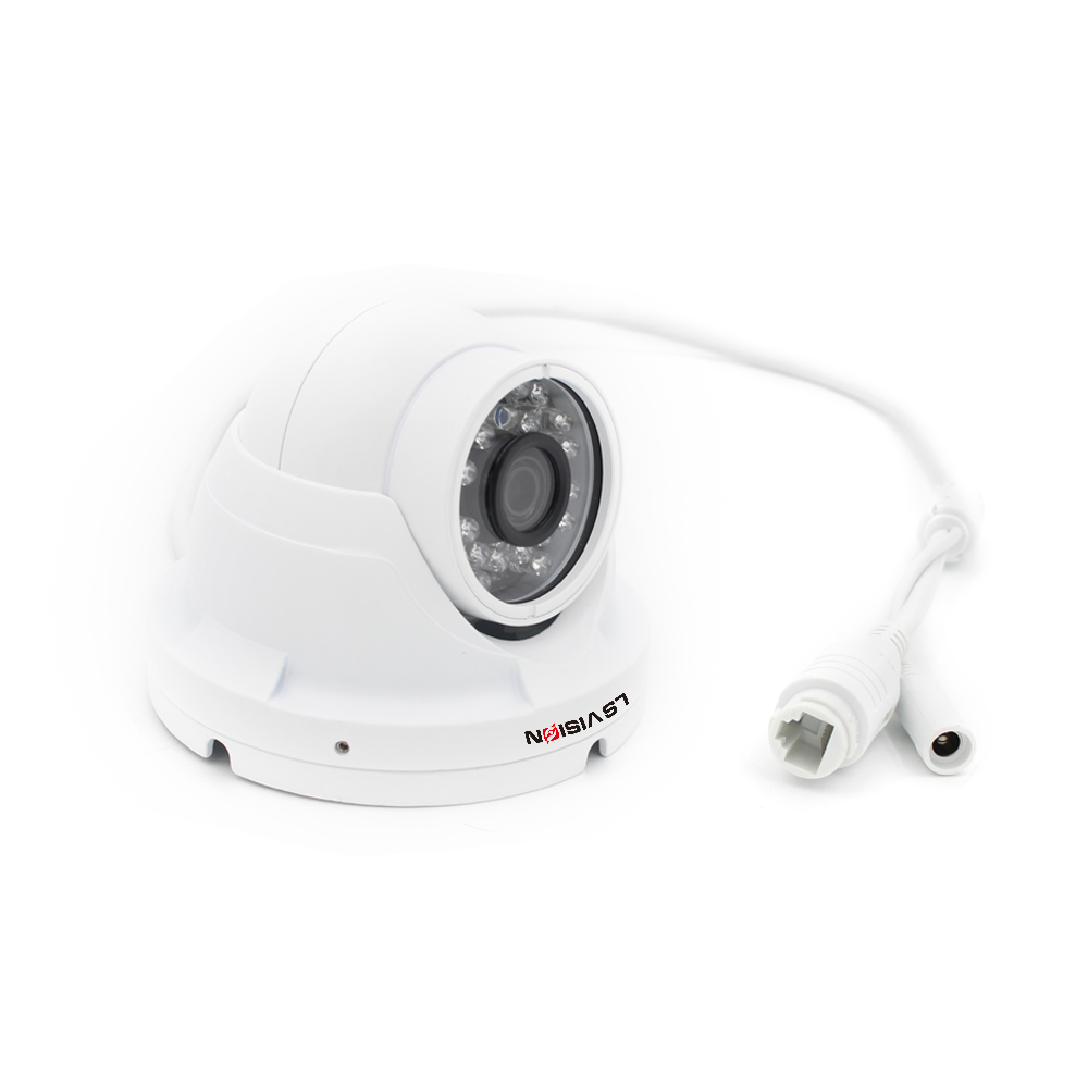 LS VISION Onvif2.4 15 Meters Smallest Fixed Lens Dome IR 960P IP Camera