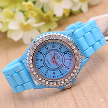 OEM silicone geneva watch japan movt water resistant