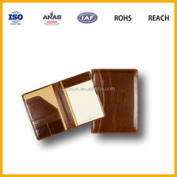 Latest Design Waterproof Executive Soft Leather Notebook Cover Diary Cover File Cover for School and Office