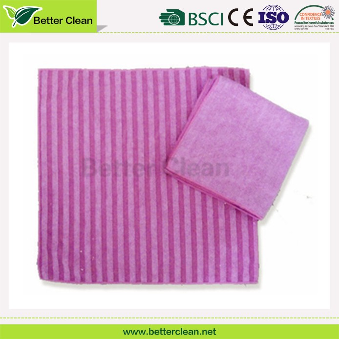 New design stripe plain dyed microfiber cloth for glass