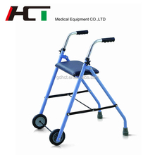 China Online Shopping Transport Two Wheel Rollator Manufacturers Children Orthopedic Health Care Aluminum Walker Rollator