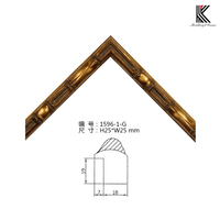 Classic bamboo antique golden picture frame moulding solid wood mirror frame moulding