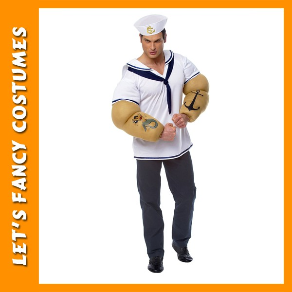 Hot Popeye esay cosplay men's sailor costume PGMC-1274