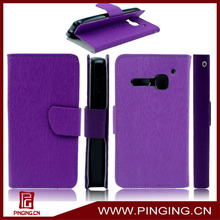 Flip leather mobile phone case for alcatel one touch s pop/4030d
