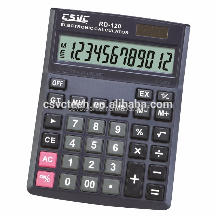 Wholesale cheap paper dual power 12 digit desktop calculator With the Best Quality
