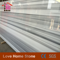 China manufacturer white marble stone with black veins (Good Price CE)