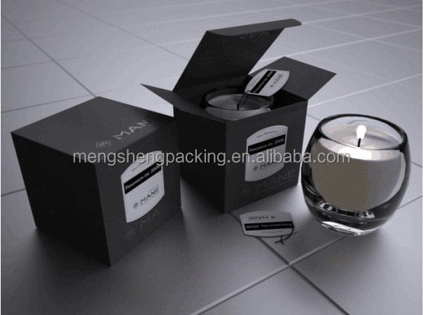 printed fancy paper packaging box for christmas candle